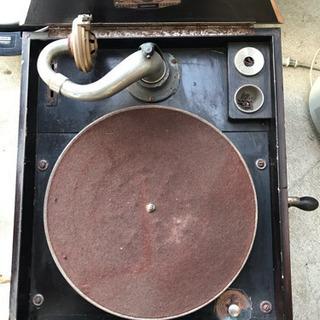 1918's USA アンティーク ゼンマイ式 レコードプレーヤ...
