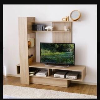 壁面収納付きテレビ台