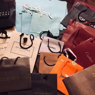 ブランドショッパー&ギフトケース  紙袋   ティファニー、カル...