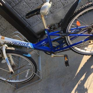 🚲子供自転車22インチ、ブルー色