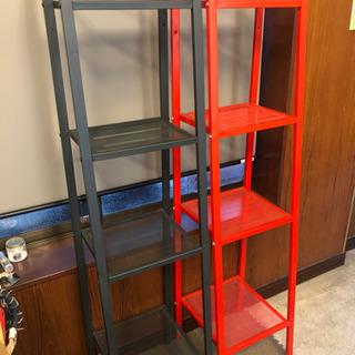 !決まりました!IKEA  シェルフ 赤 ダークグレー