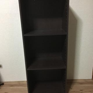 ニトリ カラーボックス A4-3段 ブラウン