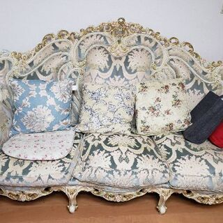 高級ソファーセット 長椅子&一人がけ2脚