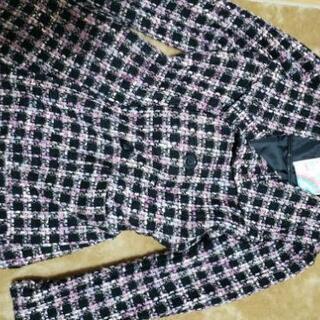 レディースLサイズ冬用の落ち着いたピンク系カラーのコート