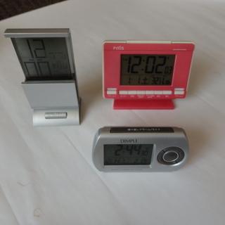 電波 目覚まし置き時計 3種