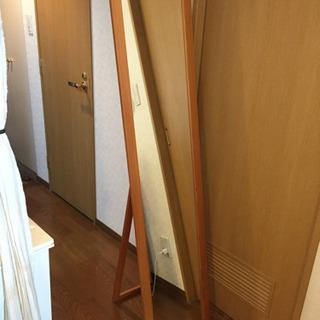 スタンドミラー 木製フレーム 姿見 ナチュラル