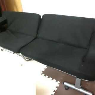 【4500円】ニトリ 黒ソファーベッド ほとんど使用していません