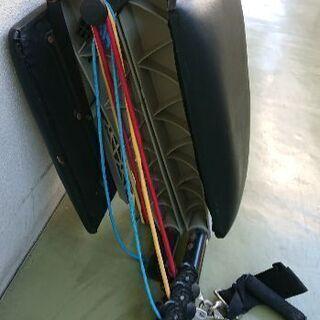 トレーニング用 折り畳みフィットネス台 背足3段階調節