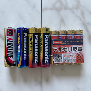 電池未使用(単三・単四)