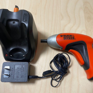 電動ドライバー BLACK &DECKER CP300X