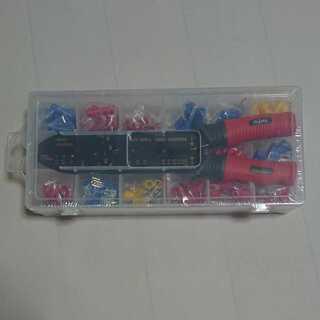 【未使用】 圧着・電工ペンチ ワイヤーストリッパー 裸端子用/接...