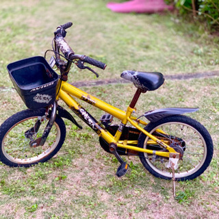 イエロー✕ブラック 子供用自転車