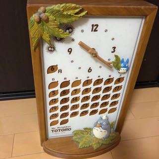 トトロのカレンダー付き時計