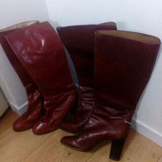 本革ブーツ2本 12月22日に、17時までに取りに来て下さる方へ
