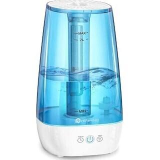 【新品・未使用】加湿器 2L 大容量 上から注水 卓上 静音 ~...