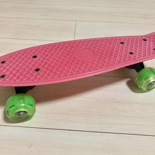 スケボー ピンク色