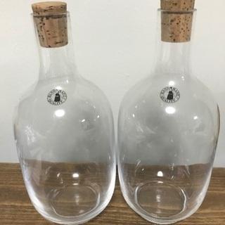 未使用 IKEA ガラス瓶 2つセット
