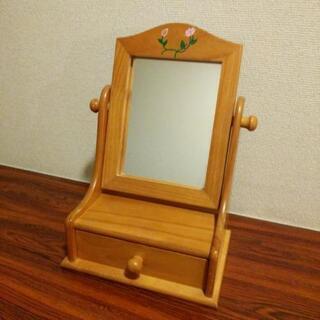 木製卓上ミラー