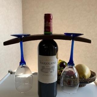 ワインホルダーワイングラスラックワインラック収納杉②