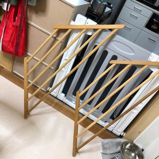 木製 コーナー棚 2つセット