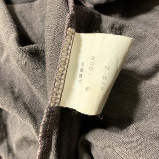 【美品】NOID フード付きカットソー 濃い紫 2 − 神奈川県