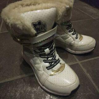 女の子用 冬靴 スノーブーツ 21cm 3足セット