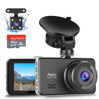 ドライブレコーダー 前後カメラ【32GB(U3)SDカード付き】