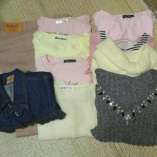 【5点追加】計15点 デニムジャケット、Tシャツ、セーター…