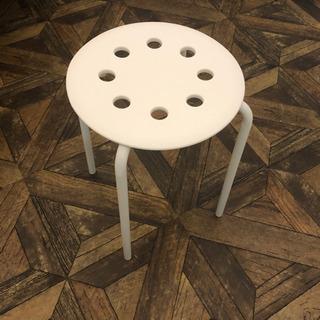 イケア/IKEA MARIUS スツール ホワイト