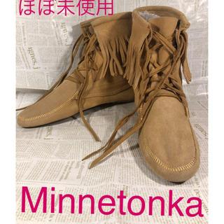 Minnetonka フリンジ編み上げブーツ 美品