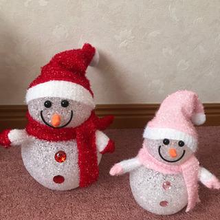 ☆ クリスマスブリキの飾り&雪だるまオブジェ3点セット