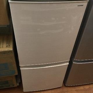 1年保証 SHARP 2ドア冷蔵庫 2018年製 137L