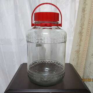ガラス保存用容器(果実酒瓶)3個セット 大(8L)  中(4.5...