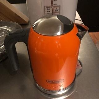 デロンギ 電気ケトル オレンジ