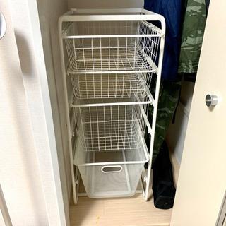 IKEAの衣類収納 ランドリー棚