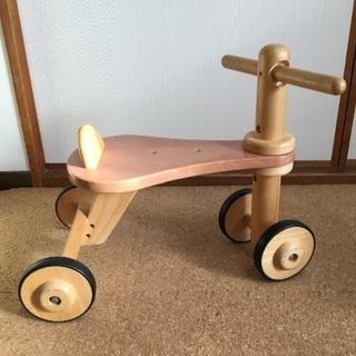 子供 木製 車 バイク 乗り物 三輪車 四輪車