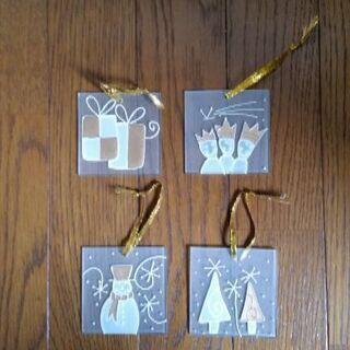 【450円にお値下げ】クリスマスガラスプレート(装飾品)