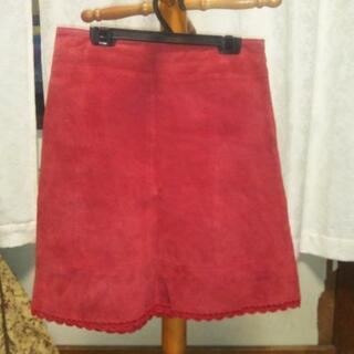 豚皮(スエード)のスカート