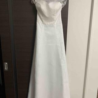 ウェディングドレス Aライン 7号 ファスナータイプ