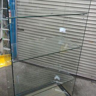 コの字型 ガラス展示棚 4段 幅約86.5 高さ約156.…