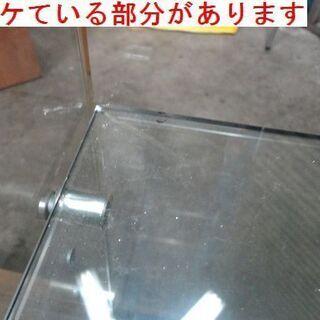 コの字型 ガラス展示棚 4段 幅約86.5 高さ約156.5cm 什器 コレクション棚 ② - 札幌市