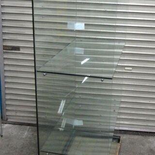 コの字型 ガラス展示棚 4段 幅約86.5 高さ約156.5cm 什器 コレクション棚 ② - その他
