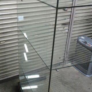 コの字型 ガラス展示棚 4段 幅約86.5 高さ約156.5cm 什器 コレクション棚 ② − 北海道