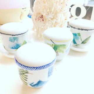 ポーセラーツでオリジナルの手作りの茶碗蒸しの器を作られました❤