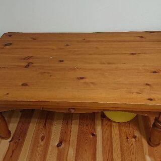 パイン無垢リビングテーブル 105cm60cm高さ45cm