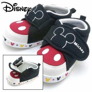 新品 ディズニー ミッキーマウス 靴 スニーカー 赤ちゃん ベビ...