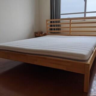 IKEA クイーンベッド:マットレス(SULTAN) ・フレーム...