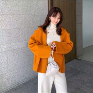 洋服工場直販新品コートオレンジ