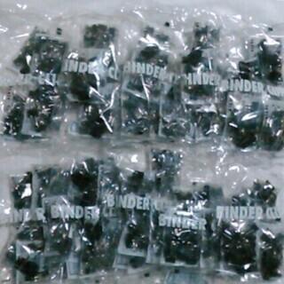 アスクル  ダブルクリップ 極豆 ブラック 100個入×10袋