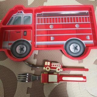 消防車 はしご車 プレート
